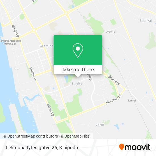I. Simonaitytės gatvė 26 map