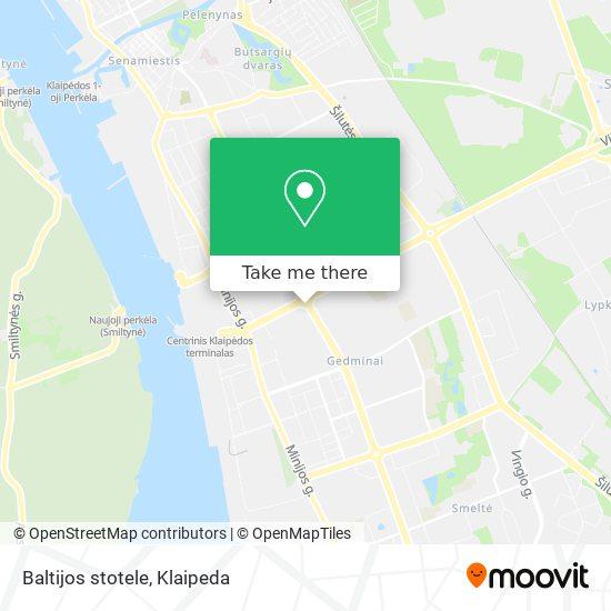 Baltijos stotele map