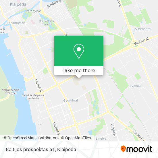 Baltijos prospektas 51 map