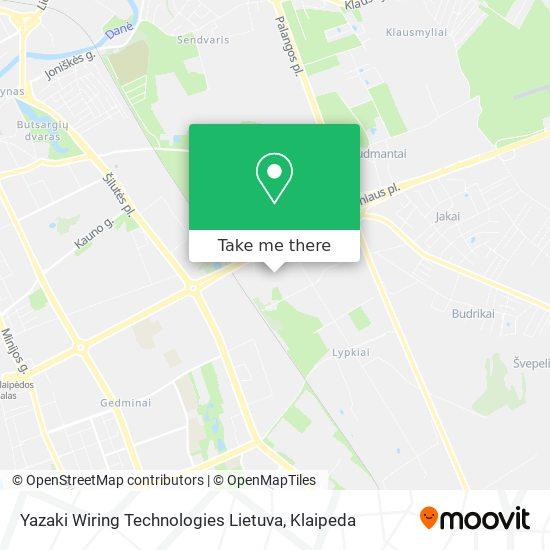 Yazaki Wiring Technologies Lietuva map
