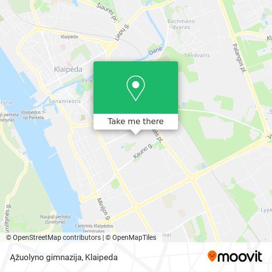 Ąžuolyno gimnazija map