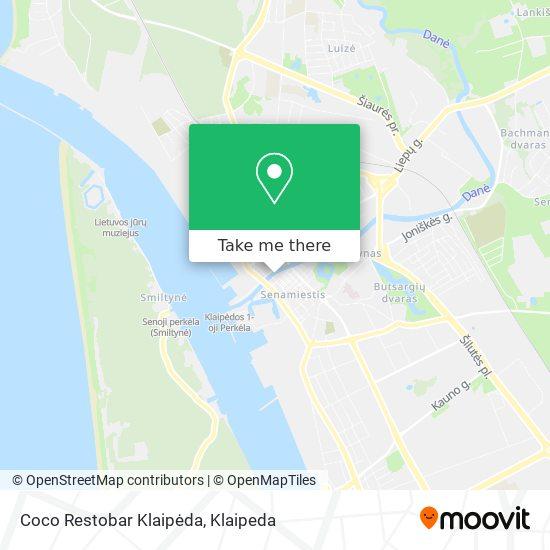 Coco Restobar Klaipėda map