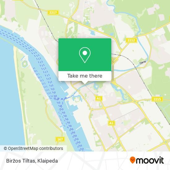 Biržos Tiltas map