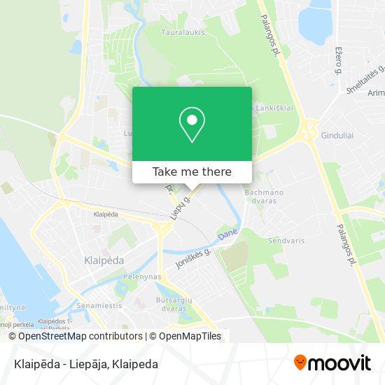 Klaipēda - Liepāja map