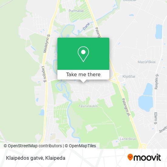 Klaipėdos gatvė map