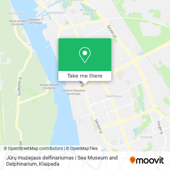 Jūrų muziejaus delfinariumas | Sea Museum and Delphinarium map