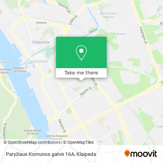 Paryžiaus Komunos gatvė 16A map