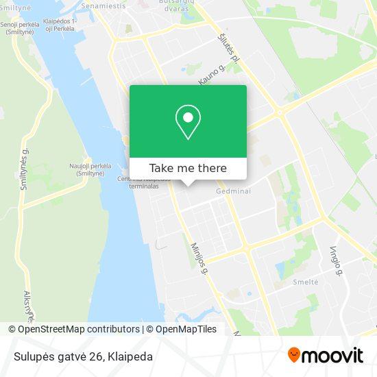 Sulupės gatvė 26 map