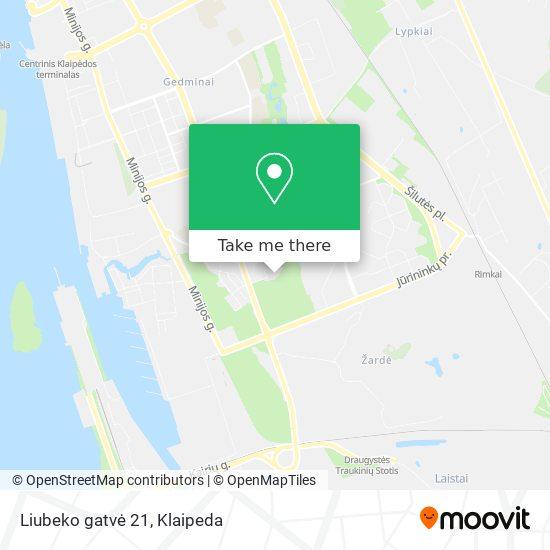 Liubeko gatvė 21 map