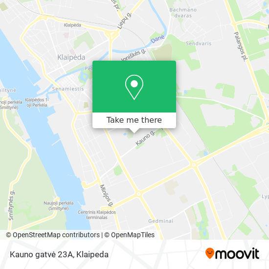 Kauno gatvė 23A map