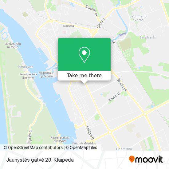 Jaunystės gatvė 20 map
