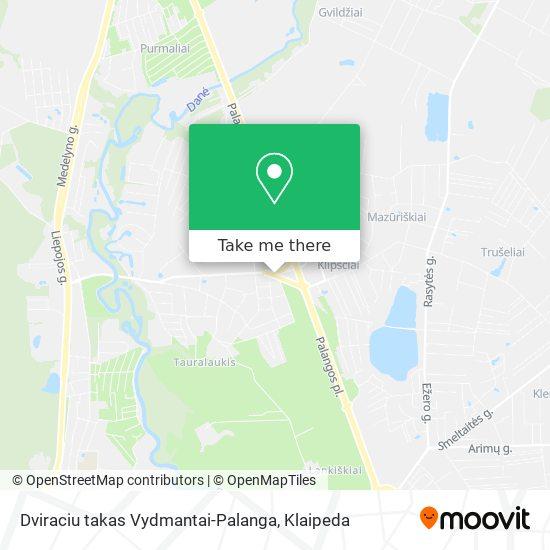 Dviraciu takas Vydmantai-Palanga map