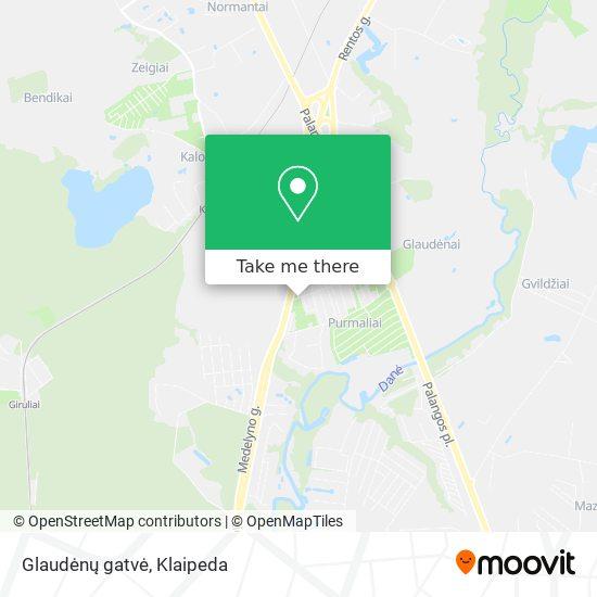 Glaudėnų gatvė map