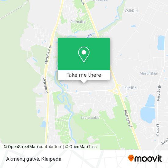 Akmenų gatvė map
