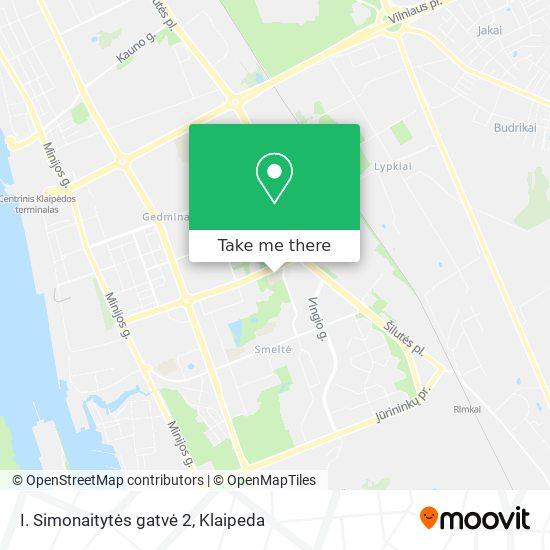 I. Simonaitytės gatvė 2 map
