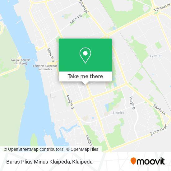 Baras Plius Minus Klaipėda map
