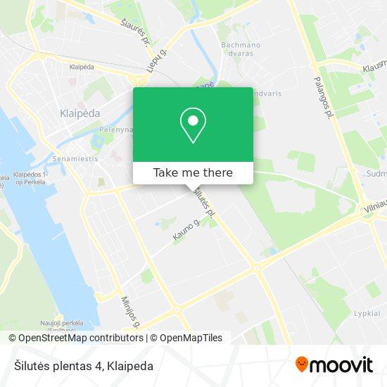 Šilutės plentas 4 map