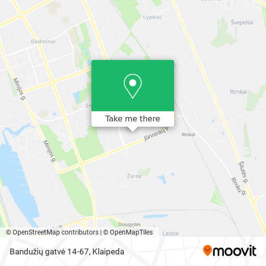 Bandužių gatvė 14-67 map