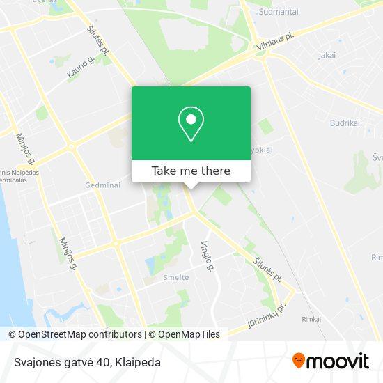 Svajonės gatvė 40 map