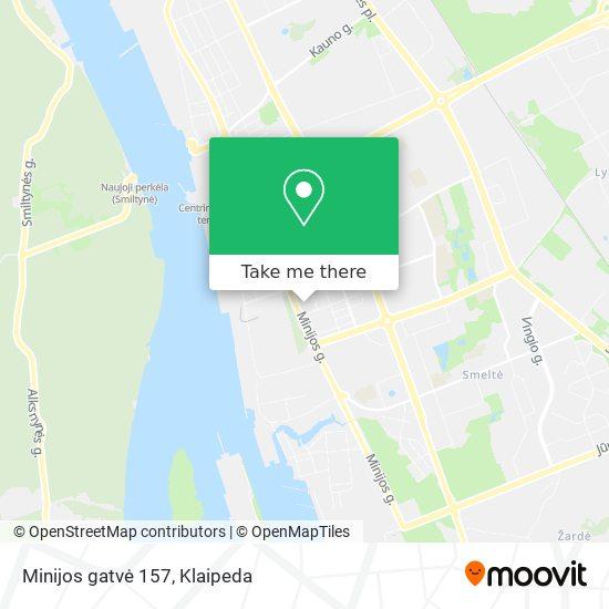 Minijos gatvė 157 map