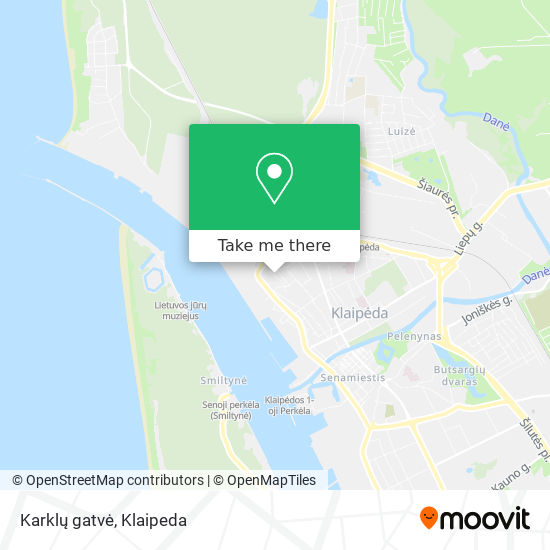 Karklų gatvė map