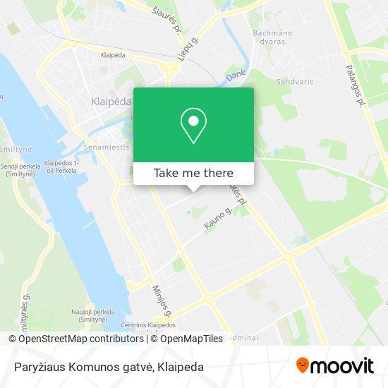 Paryžiaus Komunos gatvė map