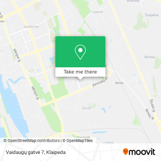 Vaidaugų gatvė 7 map