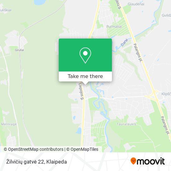 Žilvičių gatvė 22 map