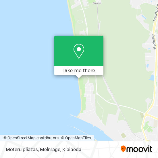 Moteru pliazas, Melnrage map