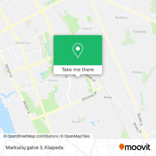 Markučių gatvė 3 map