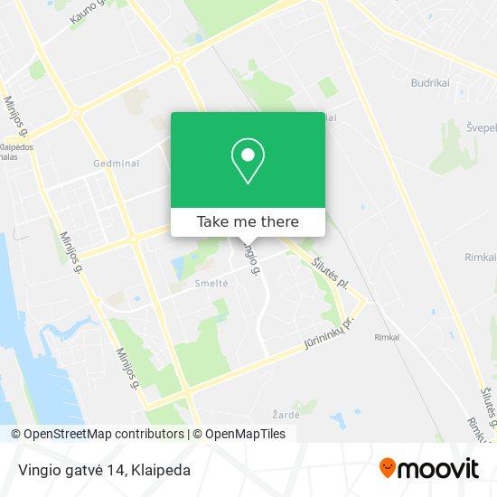 Vingio gatvė 14 map