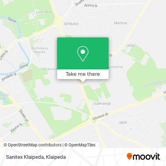 Sanitex Klaipeda map