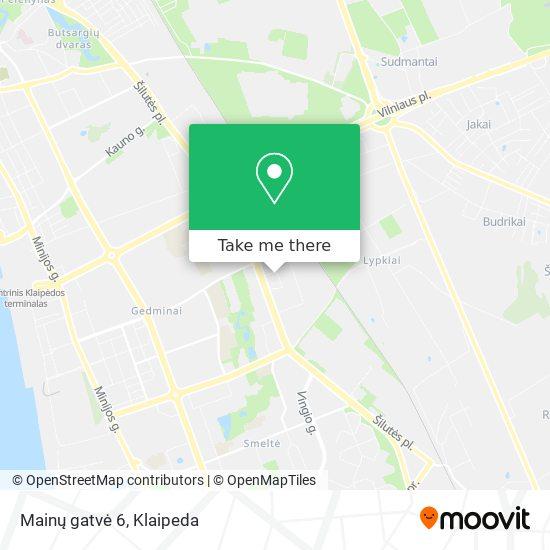 Mainų gatvė 6 map