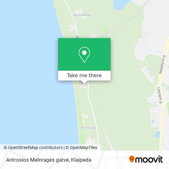 Antrosios Melnragės gatvė map