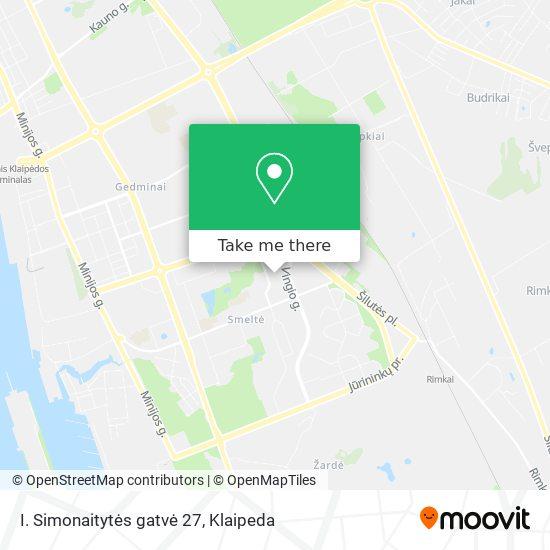 I. Simonaitytės gatvė 27 map