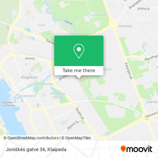Joniškės gatvė 36 map