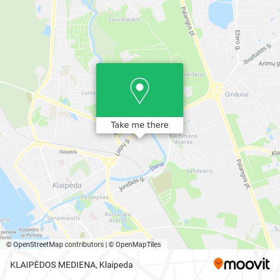 KLAIPĖDOS MEDIENA map