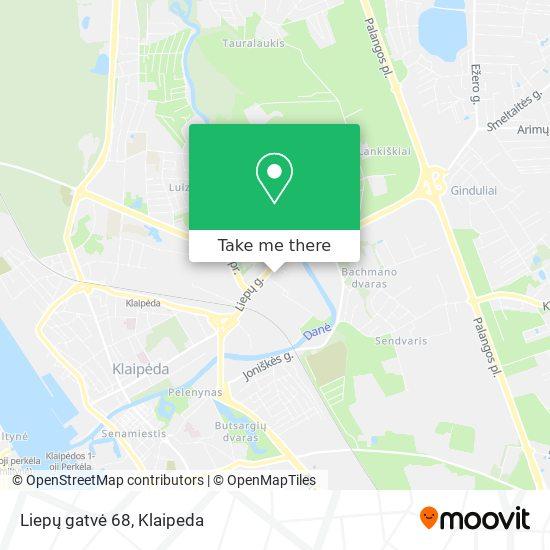 Liepų gatvė 68 map