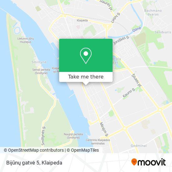 Bijūnų gatvė 5 map