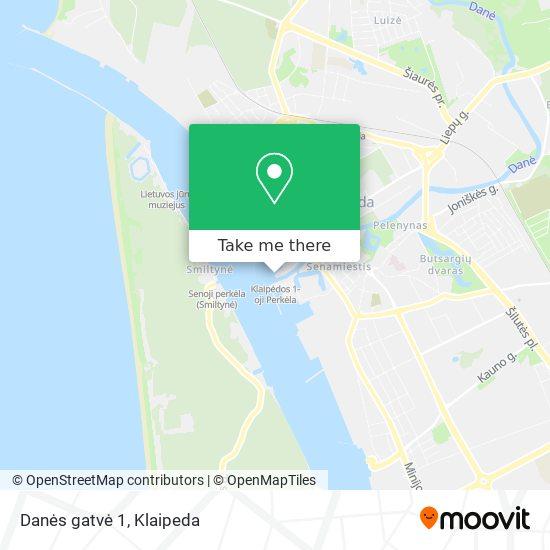 Danės gatvė 1 map