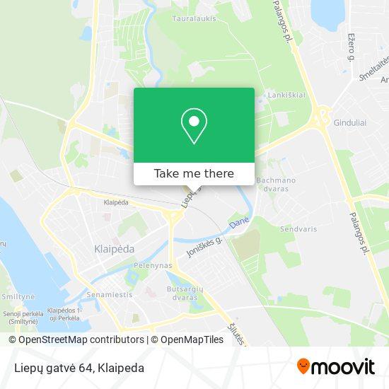 Liepų gatvė 64 map