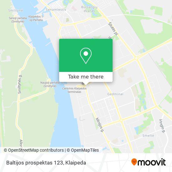 Baltijos prospektas 123 map