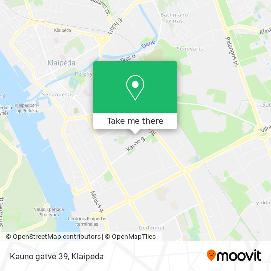 Kauno gatvė 39 map