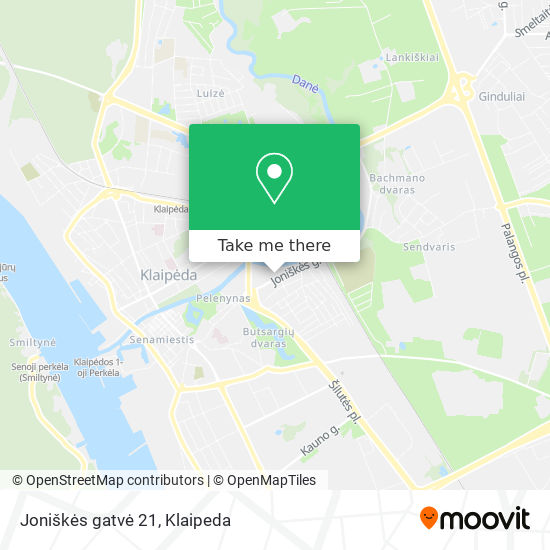 Joniškės gatvė 21 map
