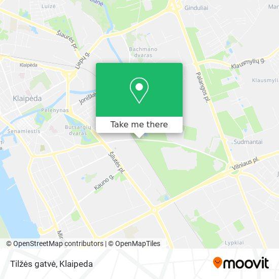Tilžės gatvė map