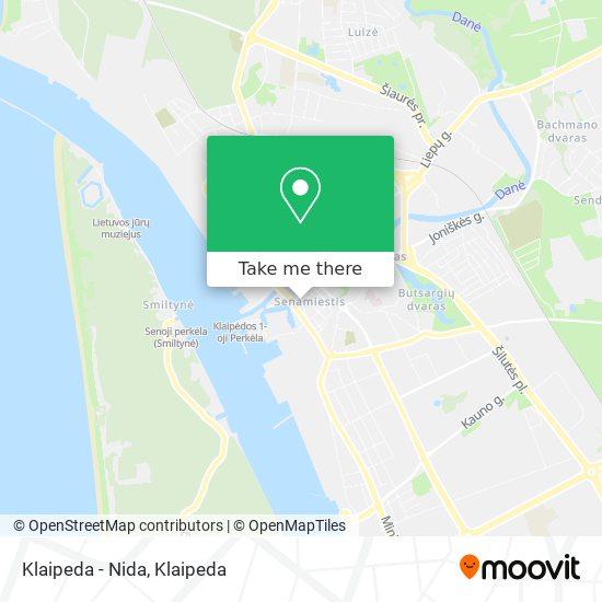 Klaipeda - Nida map