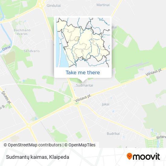 Sudmantų kaimas map