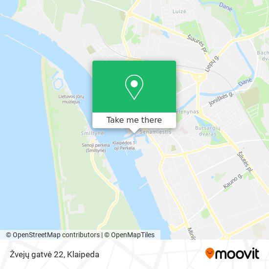 Žvejų gatvė 22 map