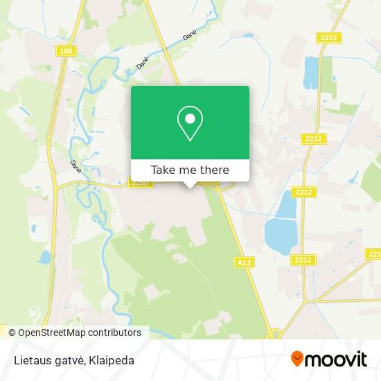 Lietaus gatvė map