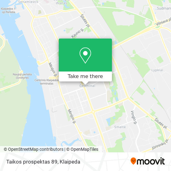 Taikos prospektas 89 map
